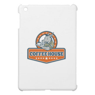 Army Sergeant Donkey Coffee House Cartoon iPad Mini Cover
