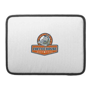 Army Sergeant Donkey Coffee House Cartoon MacBook Pro Sleeve