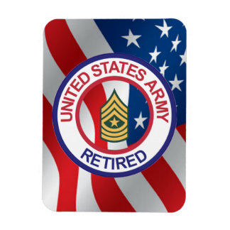 Army Sergeant Major Retired Magnet