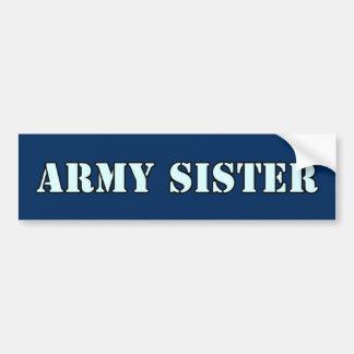 Army Sister Bumper Sticker