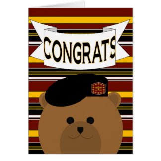 Army Soldier Congrats! Greeting Card