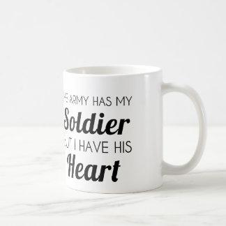 ARMY SOLDIER HEART COFFEE MUG