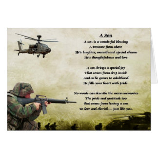 Army Soldier - Son Poem Card