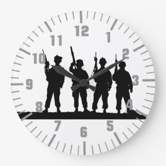 army soldiers large clock