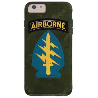 """Army Special Forces """"Green Berets"""" Army Green Camo Tough iPhone 6 Plus Case"""
