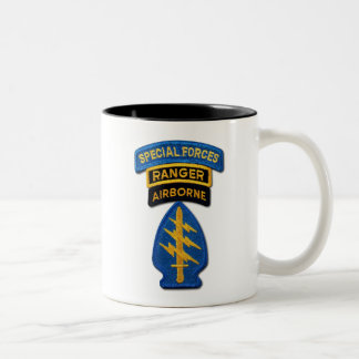 Army Special Forces Green Berets Rangers Vets Two-Tone Coffee Mug