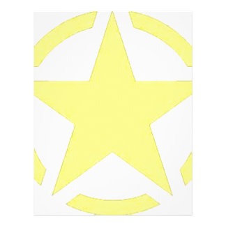 army star customized letterhead