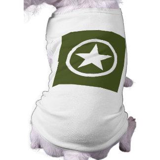 Army Star Dog T Shirt