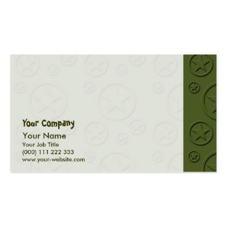 Army Star pattern Business Card