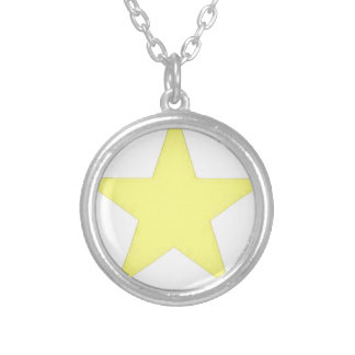 army star silver plated necklace