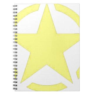 army star spiral notebook