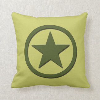 Army Star Throw Pillow