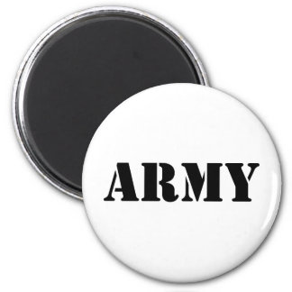 Army Text - Black Refrigerator Magnet