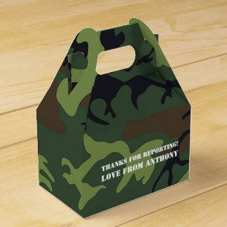 Army themed Birthday Party guest Favor Box