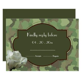 Army themed wedding RSVP Card