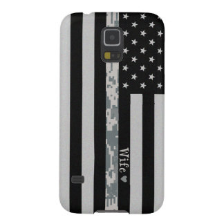 Army Thin Digi Camo Wife Line Flag Galaxy S5 Case