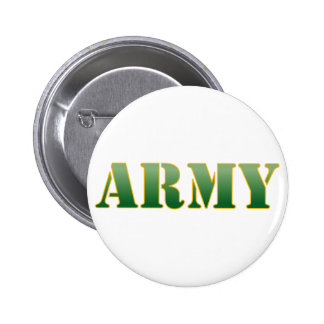 Army w/Green Text 2 Inch Round Button