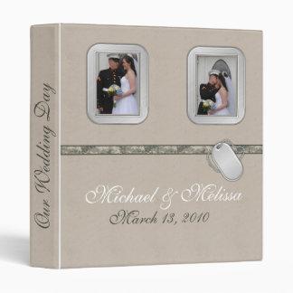 Army Wedding Album Vinyl Binders