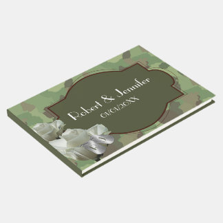 Army wedding themed Guestbook