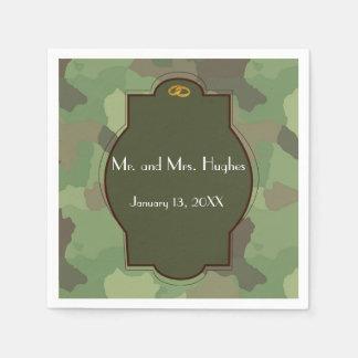 Army wedding themed wedding napkins paper napkin