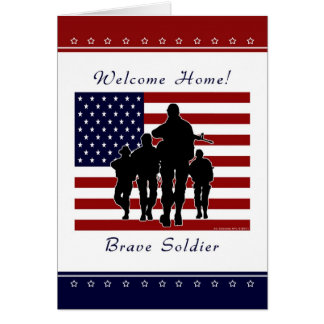 Army - Welcome Home Soldier Greeting Card