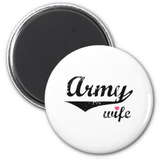 Army Wife 2 Inch Round Magnet