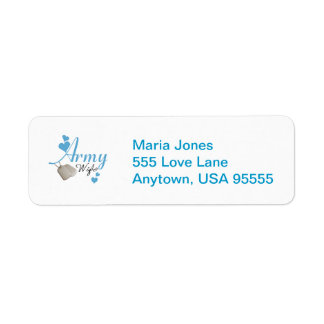 Army Wife (blue) Return Address Label