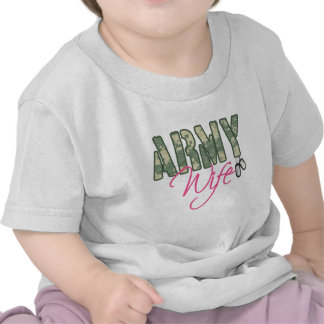 Army wife camo and pink with dog tags t shirts