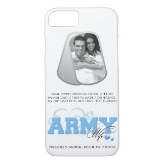 Army Wife Custom Photo in Dog Tags iPhone 8/7 Case