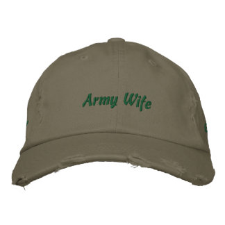 Army Wife Embroidered Baseball Cap
