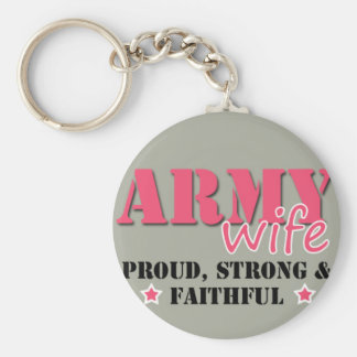 Army Wife Keychain