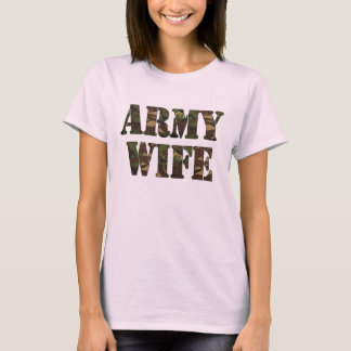 Army Wife Ladies Baby Doll T-Shirt