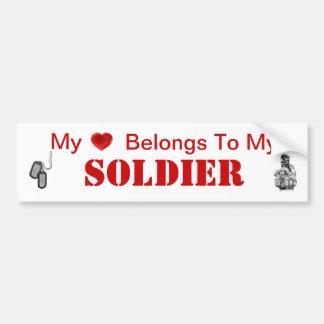 Army Wife or Army Girlfriend Bumper Sticker