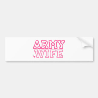 Army Wife (pink) Bumper Sticker