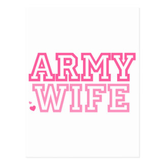 Army Wife (pink) Postcard