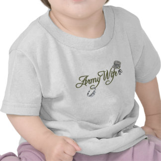 army wife-ring, dog tag, hat- green tee shirt
