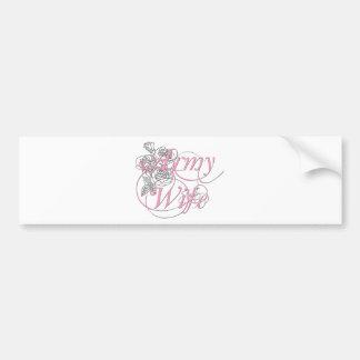 Army wife rose car bumper sticker