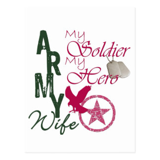 Army Wife - Soldier Postcard