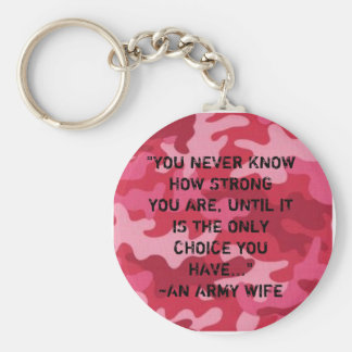 Army Wife...Strong Keychain