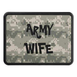 ARMY WIFE TRAILER HITCH COVER
