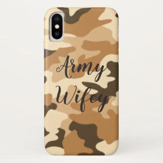 Army Wifey Desert Beige Camo iPhone Case