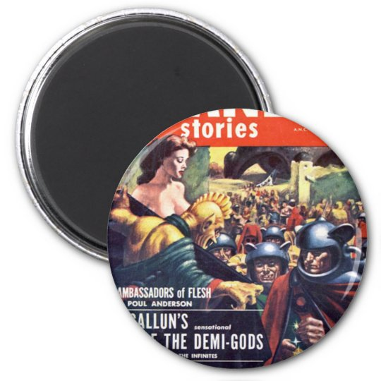 Army with Funn y Helmets 2 Inch Round Magnet