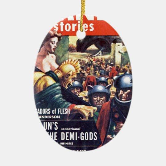 Army with Funn y Helmets Ceramic Oval Ornament