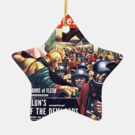Army with Funn y Helmets Ceramic Star Ornament