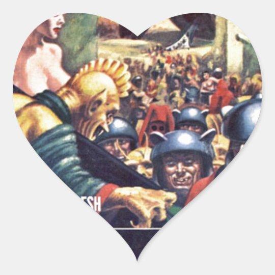 Army with Funn y Helmets Heart Sticker