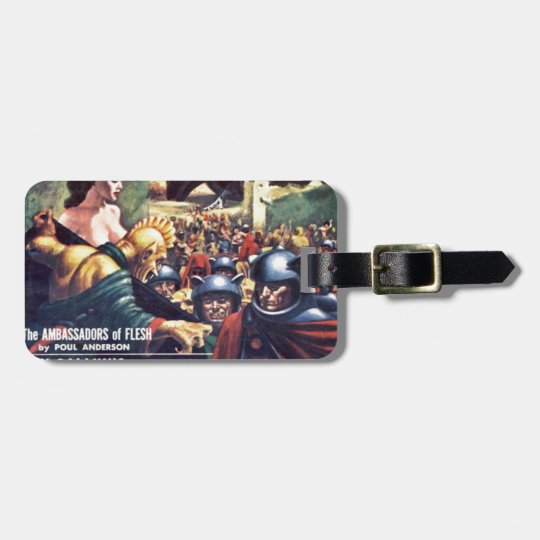 Army with Funn y Helmets Luggage Tag
