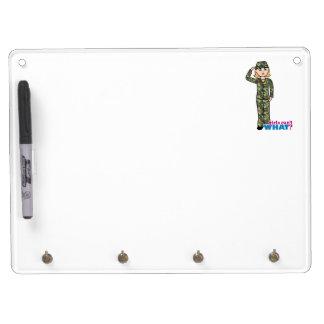 Army Woodland Camo Light Blonde Dry Erase White Board