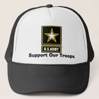 armylogotranspbkgd, Support Our Troops Trucker Hat