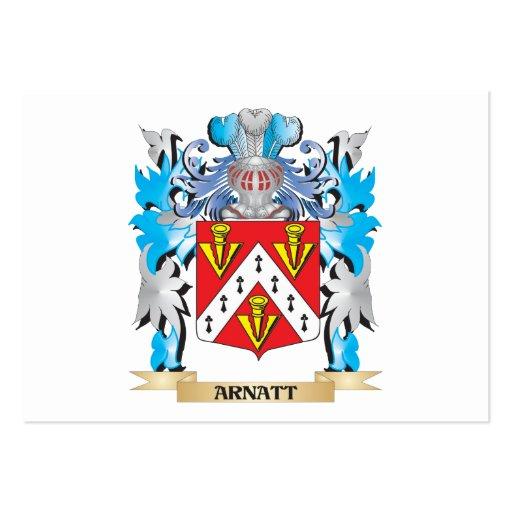 Arnatt Coat Of Arms Business Card