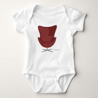 Arne Jacobsen Egg Chair Baby Bodysuit